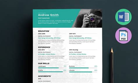 Photographer Resume Template by Photographer Resume Template Word Docx Doc Psd