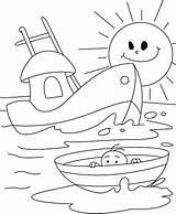 Coloring Boat Nautical Printable Boats Anchor Ship Printables Row Colouring Buggy Dune Infant Sailboat Drawing Sheets Coloring4free Shrimp Ships Dragon sketch template
