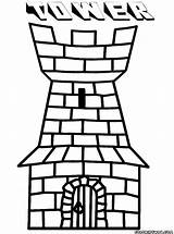 Tower Coloring Building Colorings sketch template