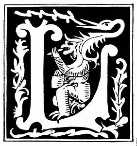 decorative initial letter l from 16th century With decorative letter l