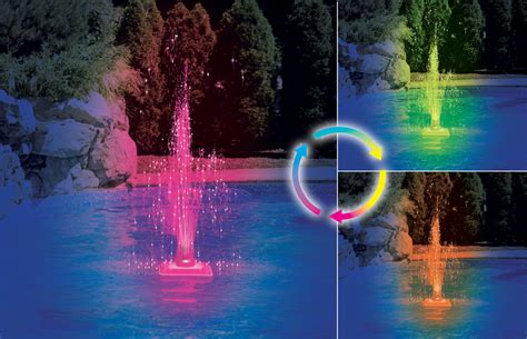 strobe light water fountain pool lights and fountains