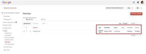 Google Webmasters Tool Sitemaps