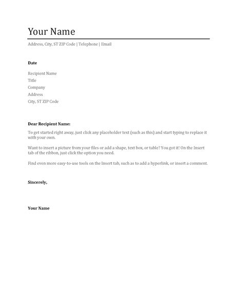 executive home office standard resume cover letter letter of recommendation