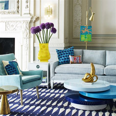 Yellow And Teal Living Room
