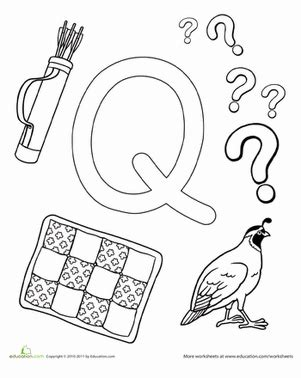q is for worksheet education