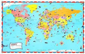 Pics For > Map Of The World With Countries For Kids