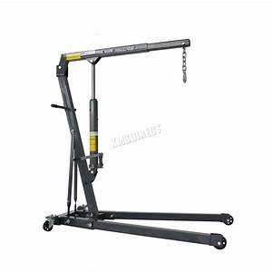 Switzer Grey 1 Ton Tonne Hydraulic Folding Engine Crane Stand Hoist Lift Jack 5055418301640