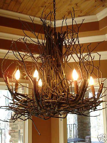 Rustic Foyer Lighting by Deanna Wish Design Branchelier Rustic Twig Light Branch