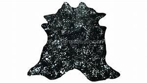 tapis peau de vache noir et argent quartz mobilier moss With tapis peau de vache avec canapé d angle grand confort