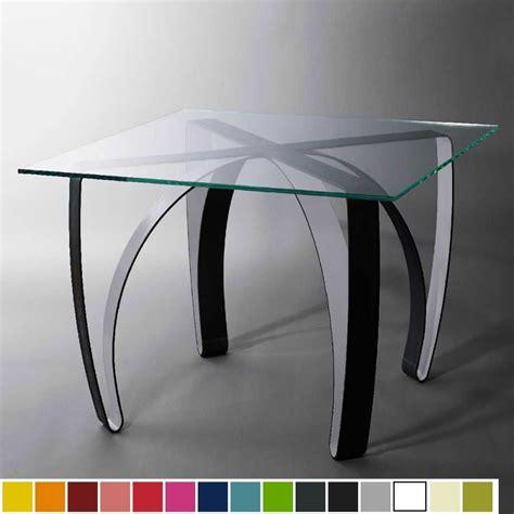 table haute de luxe en acier  plaque de verre