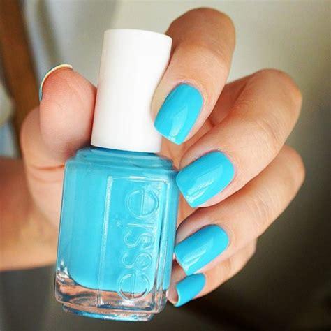 essie light blue nail light neon blue nail form the brand