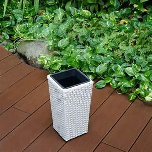 Pflanzkübel Weiß Rattan : blumenk bel h33cm wei blumentopf pflanzk bel planzen k bel rattan ebay ~ Indierocktalk.com Haus und Dekorationen