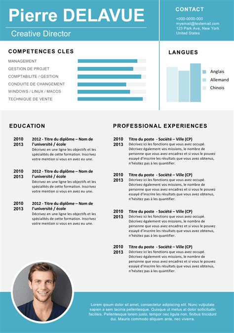 Format De Cv Gratuit by My Saves Resume Templates Exemple Cv Mod 232 Le Cv