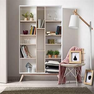 Bibliothèque Design Bois : biblioth que design blanche et bois de fr ne josh by drawer ~ Teatrodelosmanantiales.com Idées de Décoration