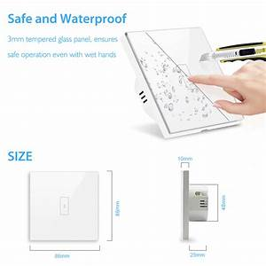 Wifi Light Switch 2500w Touch Switch  Eu Type Tuya Smart