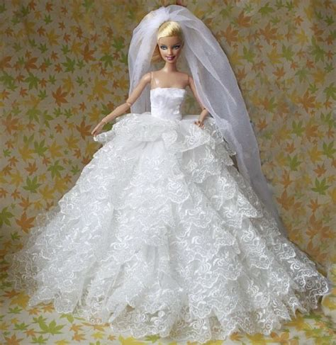 doll wedding dresses excellent for barbies doll luxurious nine layers wedding