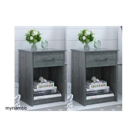 End Tables Bedroom by Efficient Business Growth Set Of 2 Nightstand Mdf End