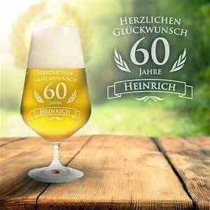 Geburtstag Männer Bilder : bierglas zum 60 geburtstag personalisiert pilsglas mit gravur ~ Frokenaadalensverden.com Haus und Dekorationen
