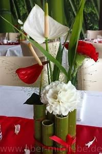 Anthurie Im Wasser : tischgesteck in rot und wei nelke anthurie gr ser renautria bambus tischdeko bamboo ~ Yasmunasinghe.com Haus und Dekorationen