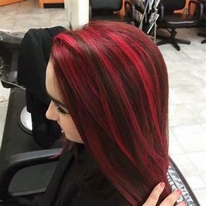 Red Hair Streaks In Black Hair | www.pixshark.com - Images ...