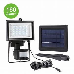 Led solar floodlight with pir lm security light le