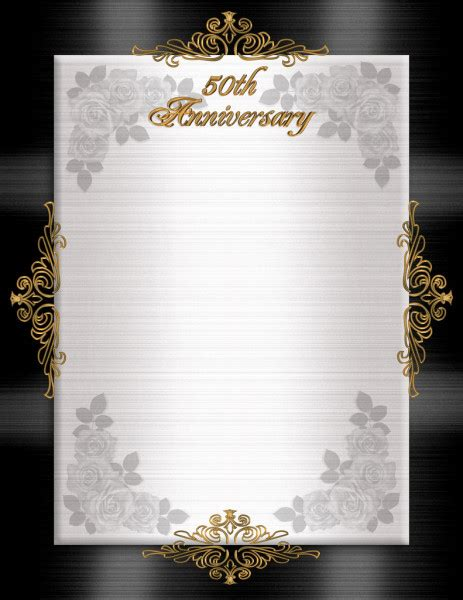 25Th Wedding Anniversary invitation Stock Photo