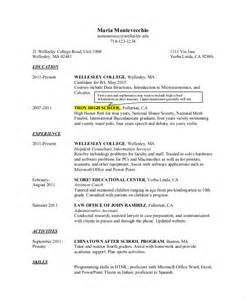 high school resume for colleges high school resume 10 free word pdf psd documents