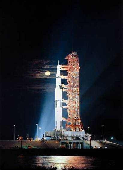 Launch Apollo Nasa Moon Saturn Rollout Rocket