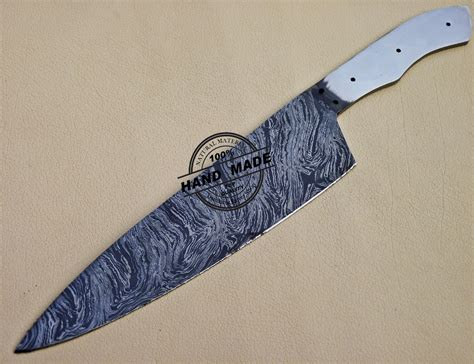 rate kitchen knives damascus kitchen blank blade knife custom handmade knife 1093