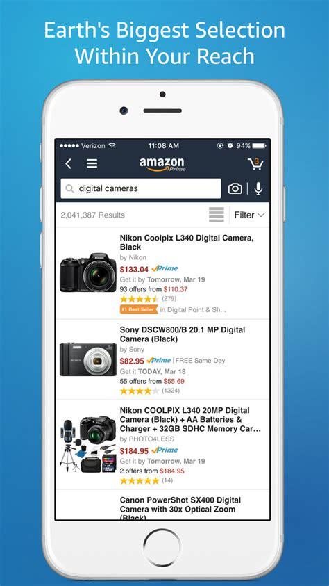 amazon app updated   menu design
