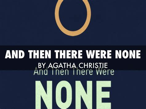 And Then There Were None By Rhett Zepper