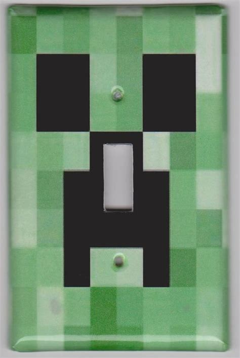 Minecraft Bedroom Light by Minecraft Creeper Light Switch Cover By Madradcrafts On