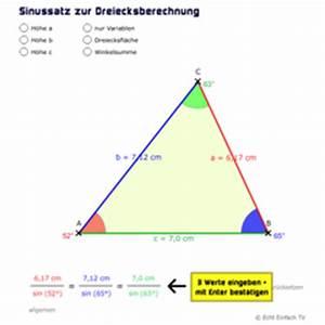 Dreiecksseiten Berechnen : lektion tri03 sinussatz und kosinussatz matheretter ~ Themetempest.com Abrechnung