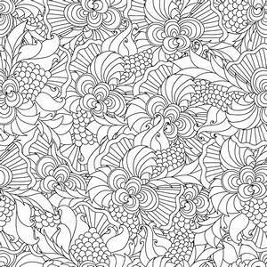 Disegni da colorare per adulti Decorativo a mano doodle disegnato natura ornamentale ricciolo