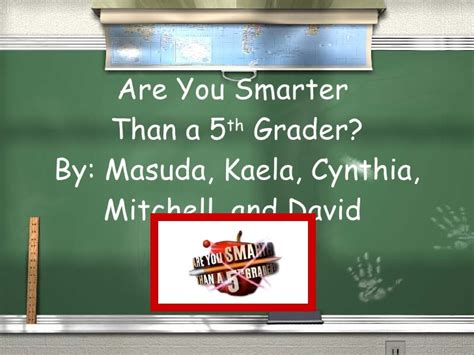 Are You Smarter Than A 5th Grader Powerpoint Template by Are You Smarter Than A 5th Grader