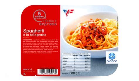 plat cuisiné picard spaghetti à la bolognaise surgelés les plats cuisinés picard