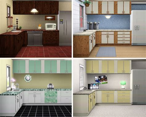 sims 3 kitchen ideas mod the sims simple kitchen counters islands cabinets