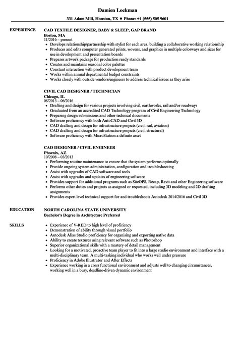 Resume Drafting by Cad Designer Resume New Unique