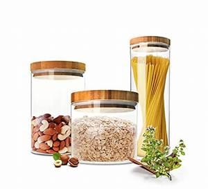 Vorratsbehälter Glas Mit Deckel : 3er set dimono vorratsglas aus borosilikatglas vorratsgl ser glas beh ler einweck glas mit ~ Markanthonyermac.com Haus und Dekorationen