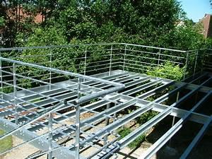 terrasse metallique batiment cerh metallerie pour l With terrasse en acier galvanise