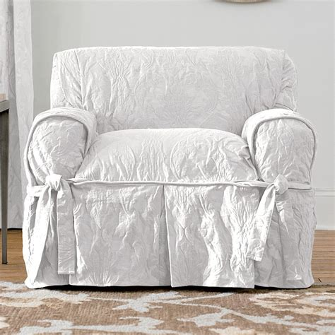 sure fit slipcovers matelass 233 damask 1 chair