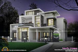 contemporary home plans grand contemporary home design kerala home design and floor plans