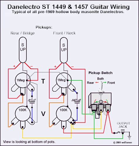 danelectro electric guitar wiring diagrams