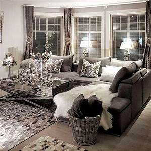 Neutral Living Room Ideas - Earthy Gray Living Rooms To