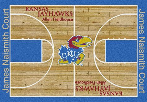 8 x 10 area rugs ku jayhawks basketball home court area rug
