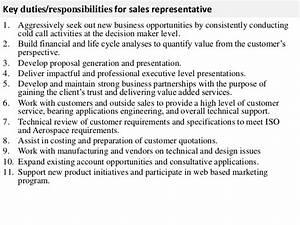 sales representative job description With sales rep job description template
