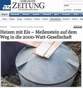 Heizen Mit Eis : aargauer zeitung heizen mit eis meilenstein auf dem ~ Michelbontemps.com Haus und Dekorationen
