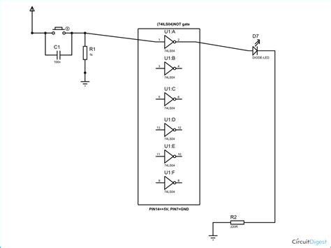 And Gate Wiring Diagram by Not Gate Circuit Diagram And Working Explanation