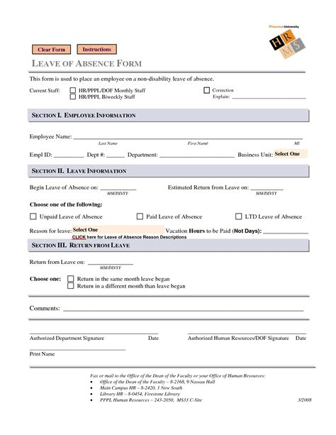 employee information form template 10 best images of business forms free