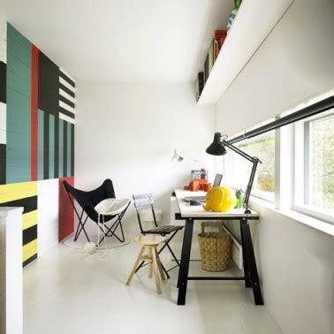 peindre bureau peindre du lambris mur plusieurs couleurs pour deco salon